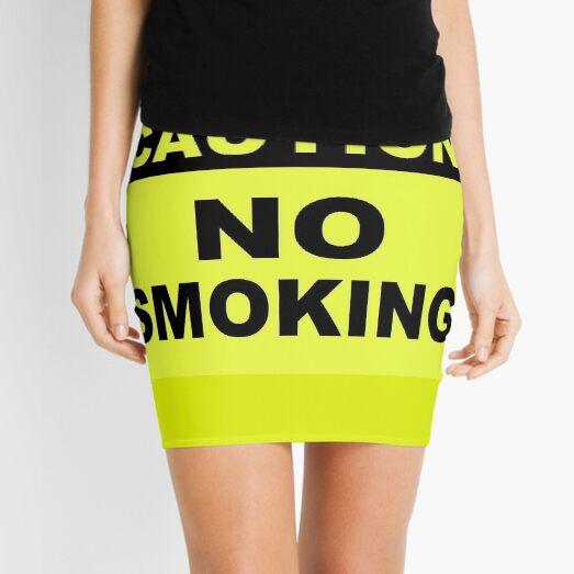 Caution No Smoking Mini Skirt