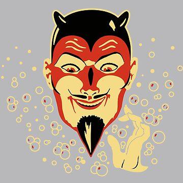 Vintage Halloween Devil Head by 91design