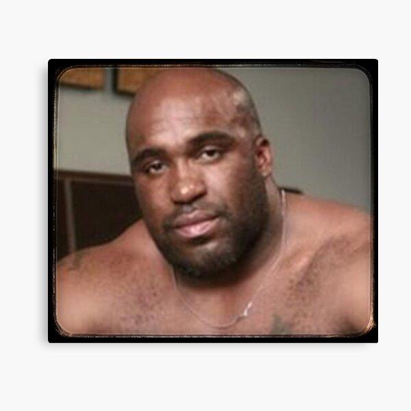 Large Black Man Bear Barry Wood from Emergency Text Message Joke Canvas Print