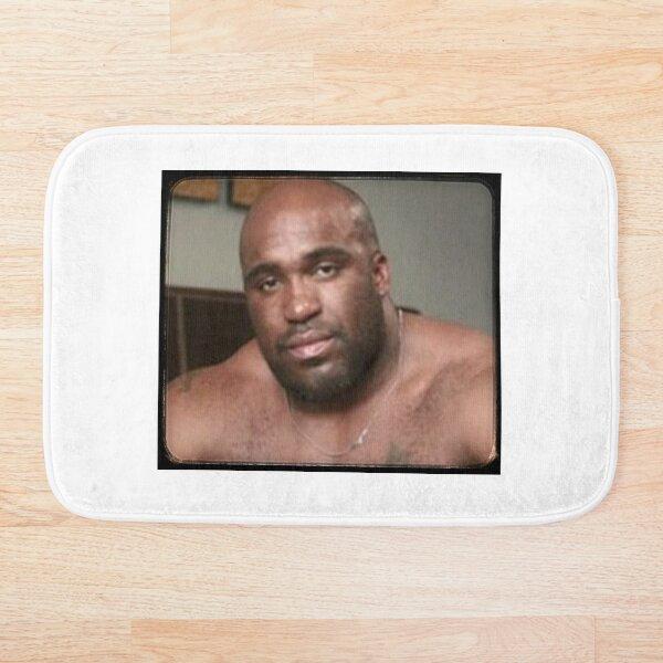 Large Black Man Bear Barry Wood from Emergency Text Message Joke Bath Mat
