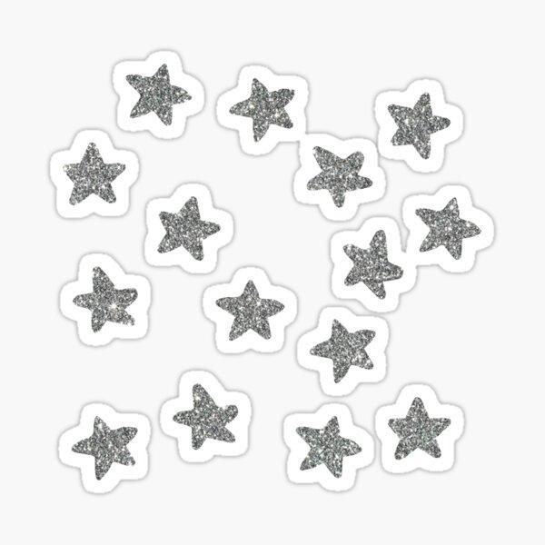 silver glitter stars Sticker