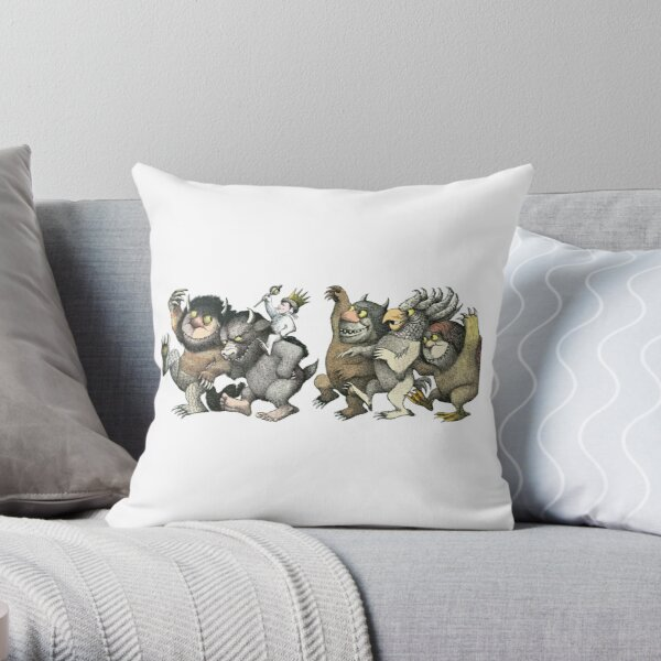 Wild Things Romp Graphic Throw Pillow