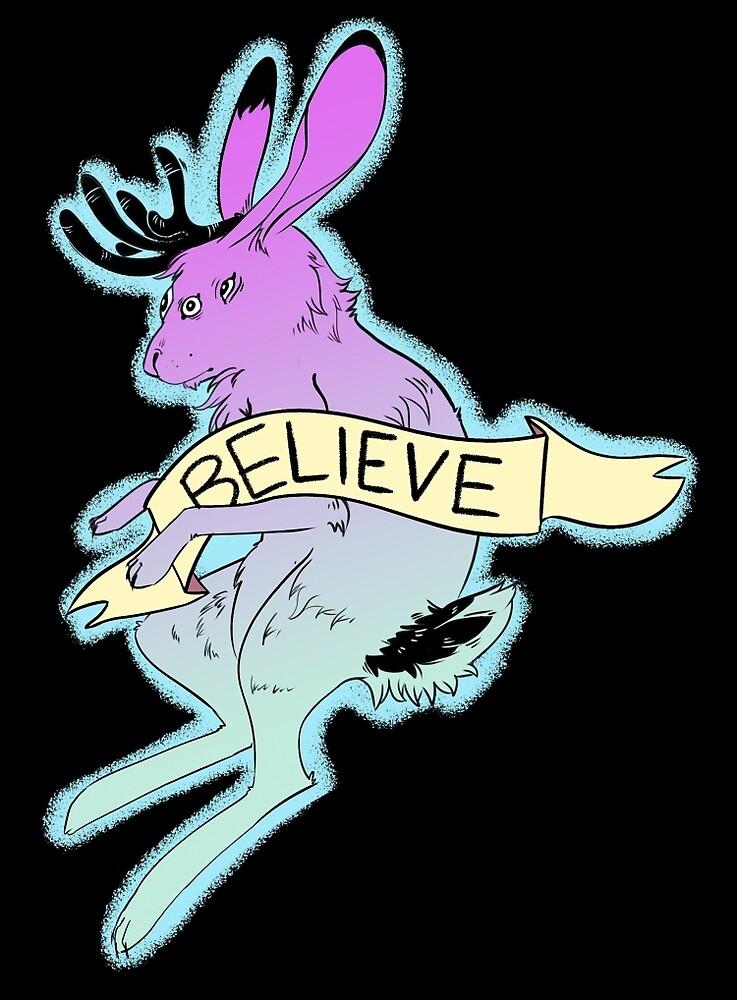 Believe in the Jackalope by loupsgaroux