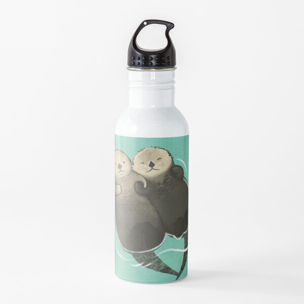 Significant Otters - Otters Holding Hands Water Bottle