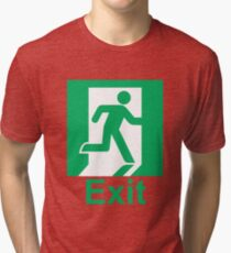 Exit sign Tri-blend T-Shirt