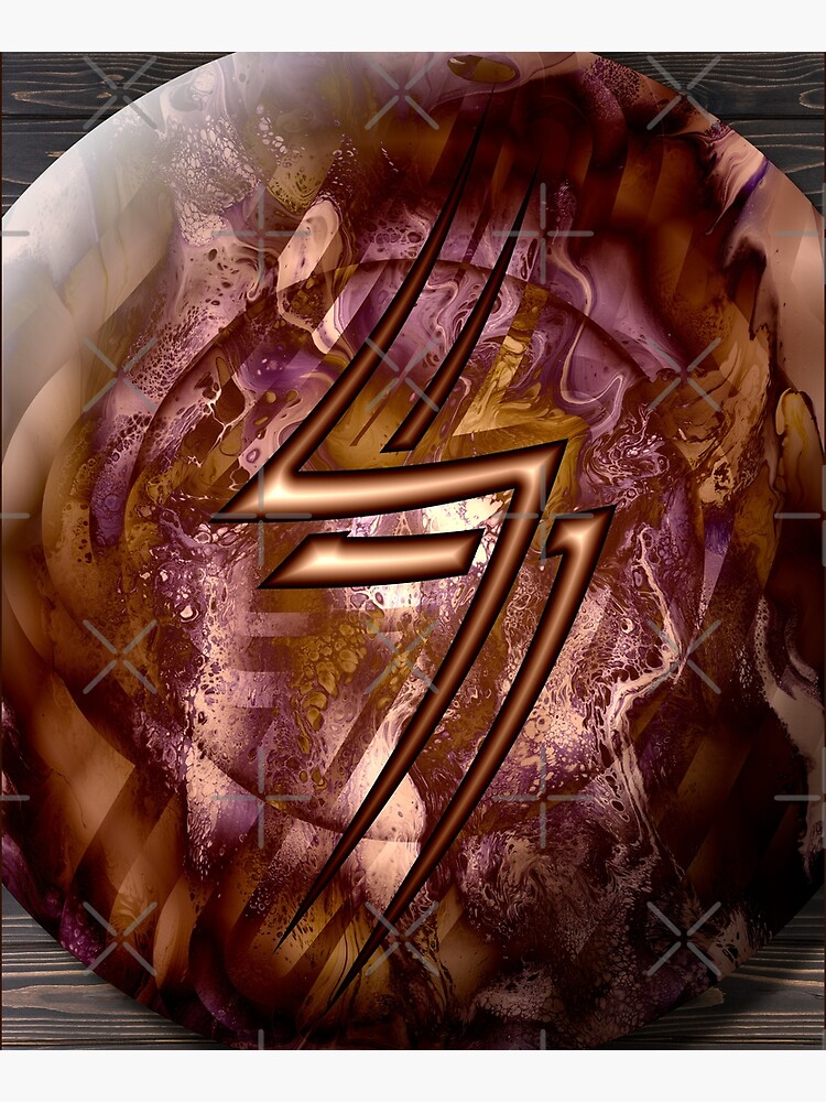 Copper Shield, Lightning Bolt by kerravonsen
