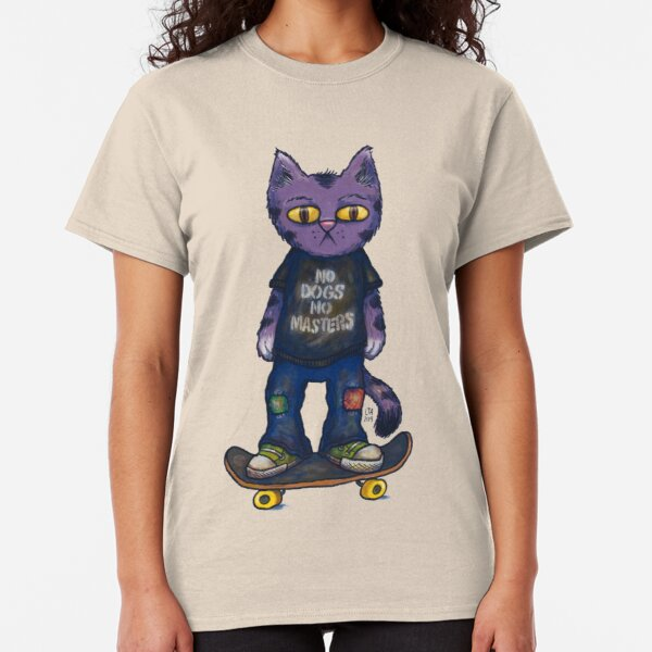 No Dogs No Masters Anarchy Cat Classic T-Shirt