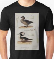 Édouard Traviès or Edouard Travies Cuvier 100 Sarcelle d'hiver et Harle piette Unisex T-Shirt