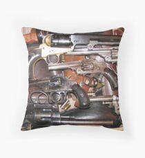 Antique Guns Collection photography Throw Pillow
