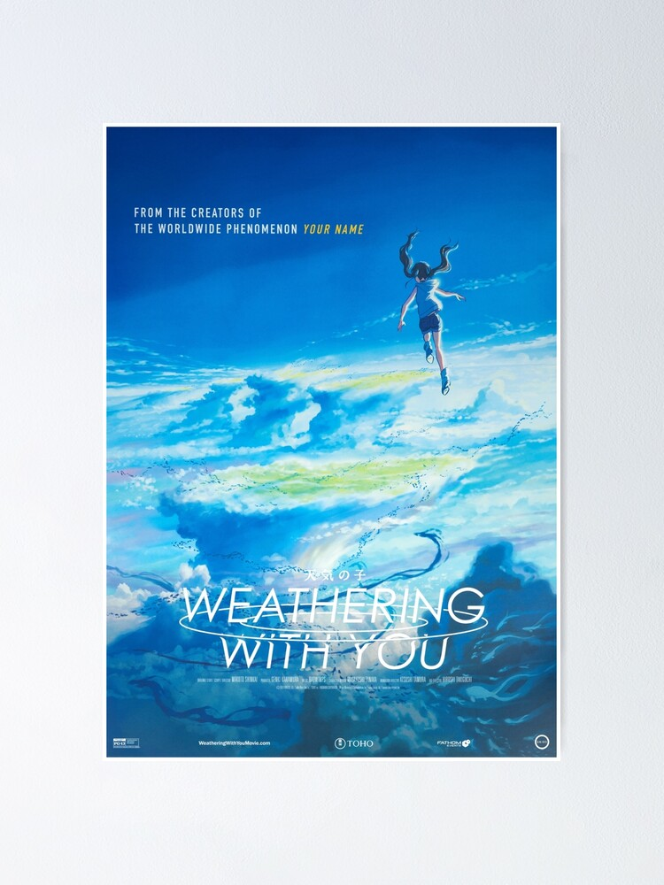 Weathering With You Poster Poster By Racerclc Redbubble