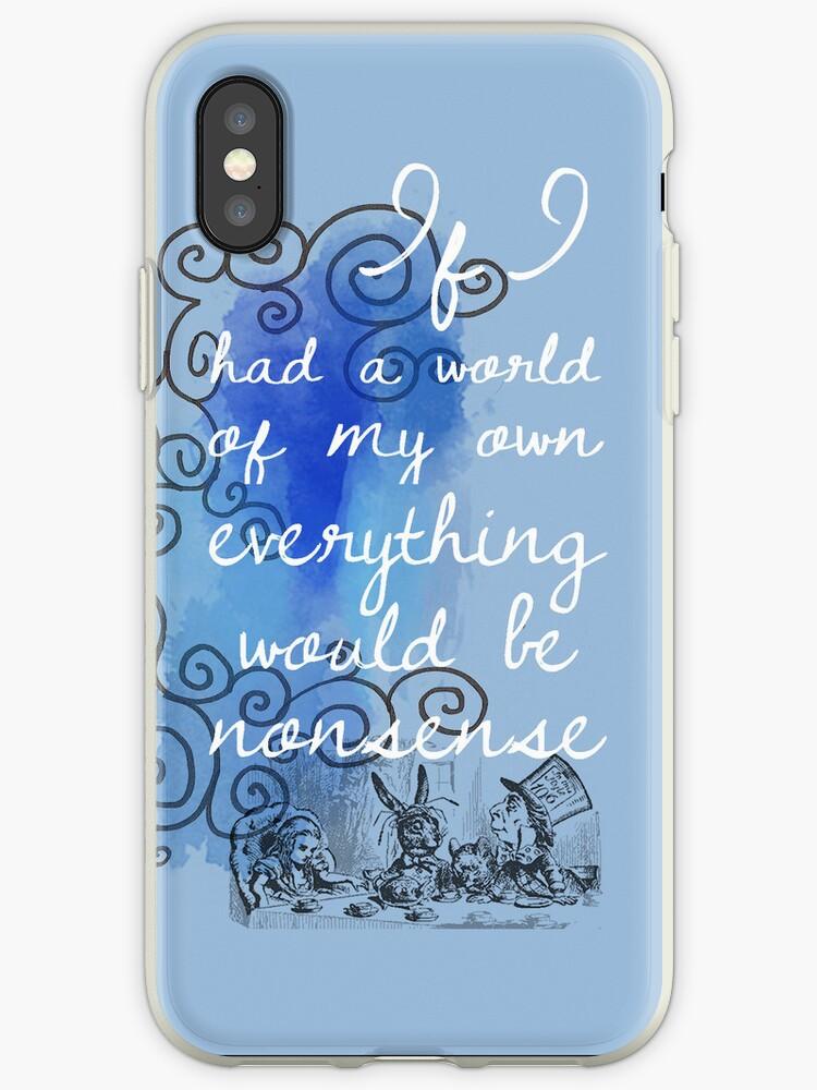 iphone xs alice in wonderland case