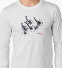 Sumi-e Shrimps represent Abundance! Long Sleeve T-Shirt
