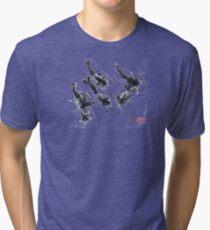 Sumi-e Shrimps represent Abundance! Tri-blend T-Shirt