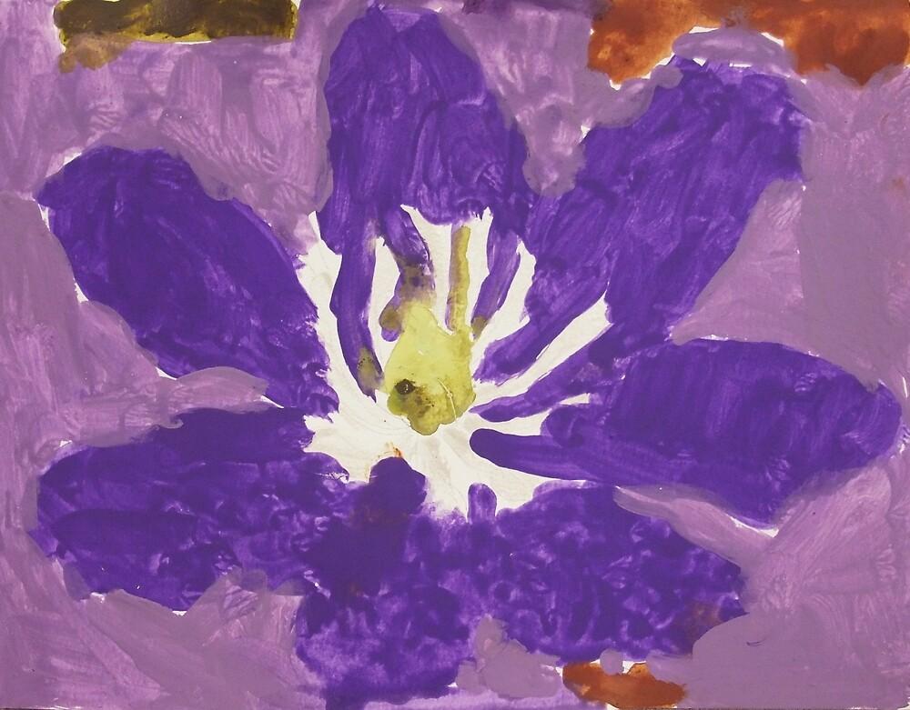 Impressionist Purple Lily Flower by Express Yourself Artshop