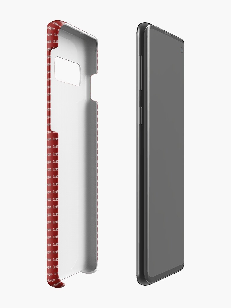 Alternate view of lfspn BOX (white) Case & Skin for Samsung Galaxy