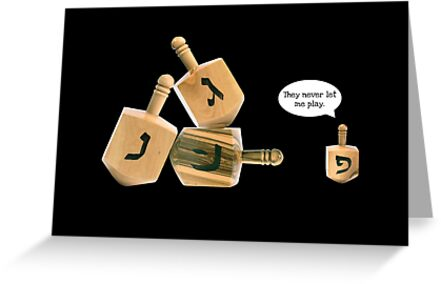 They Never Let Me Play - Hanukkah Card by Scott Mitchell