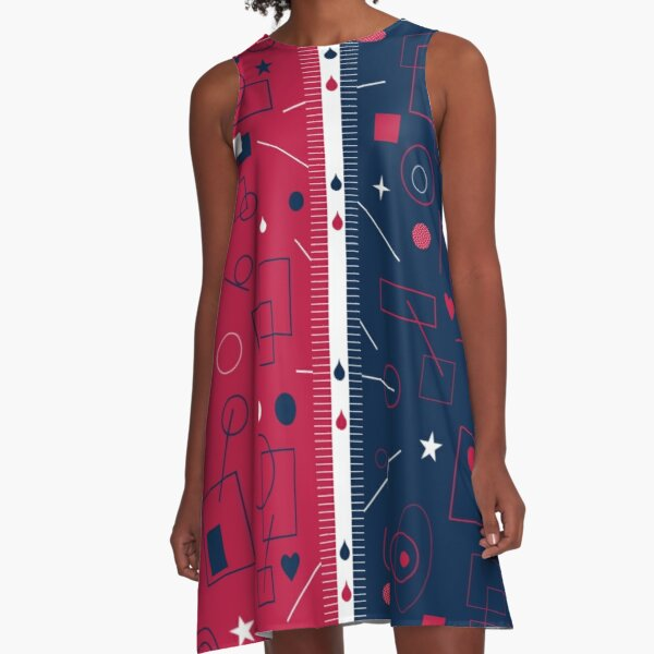 Broken Connection A-Line Dress