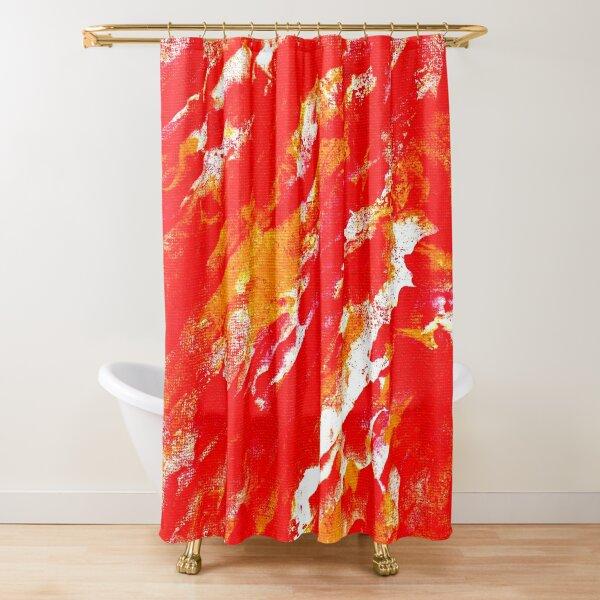 Fire Ball Shower Curtain