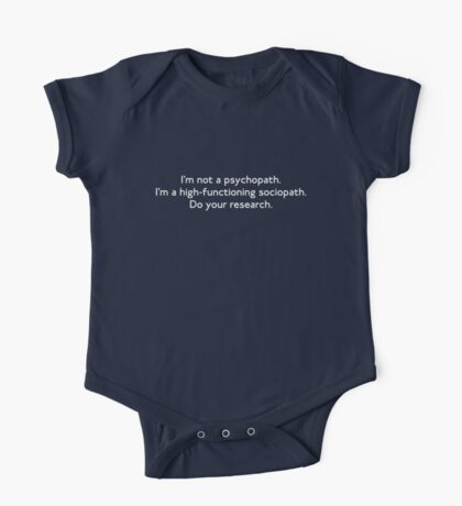 High-functioning Sociopath Kids Clothes