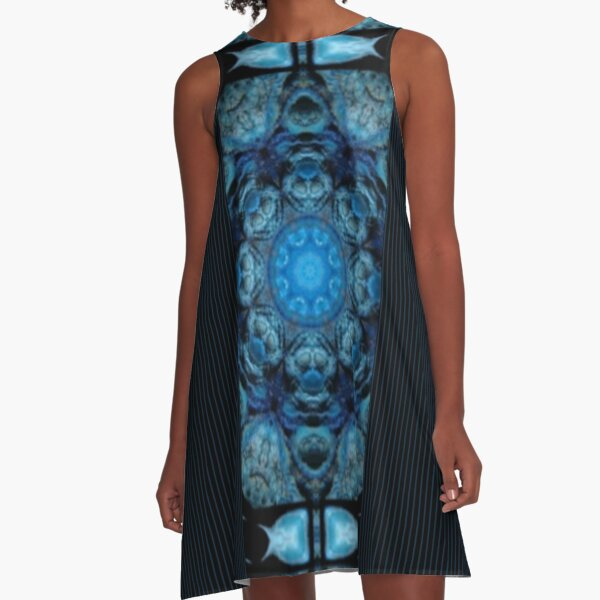 Ghoulish Shadows Appear A-Line Dress