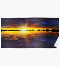 Sunset by the River Poster