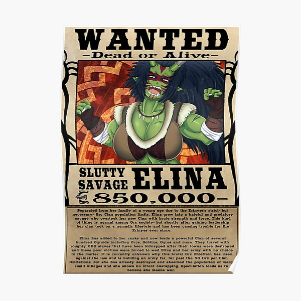 Elina Wanted Poster - MHFAP! Poster