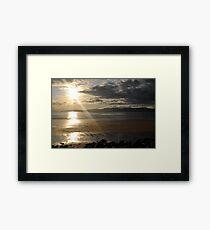 Sunset on Rossbeigh Beach Framed Print
