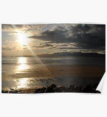 Sunset on Rossbeigh Beach Poster