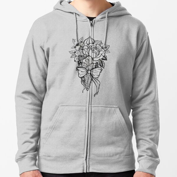 Ice Cream Bouquet Zipped Hoodie