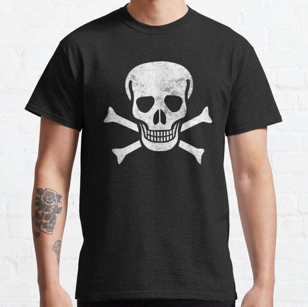 Pirate Flag Skull Bones Jolly Roger Graphic Classic T-Shirt
