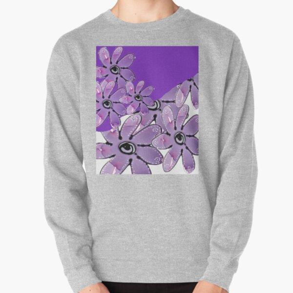 Purple Multi Floral Pullover Sweatshirt