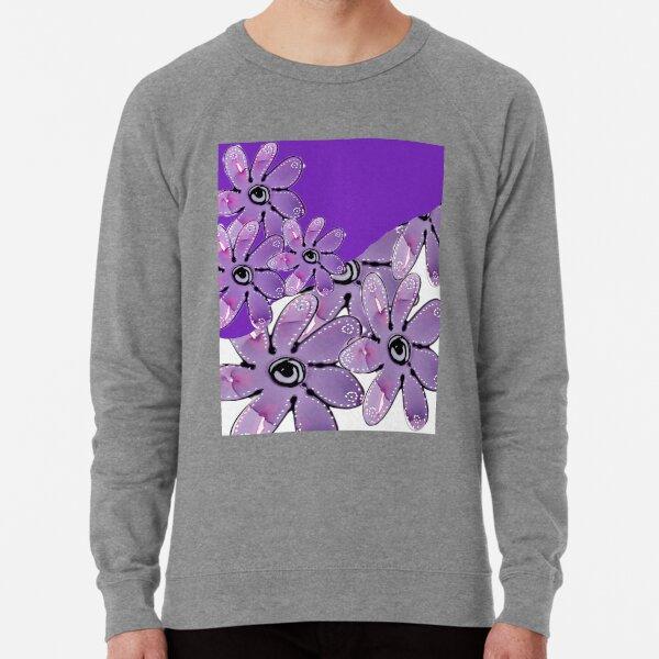 Purple Multi Floral Lightweight Sweatshirt