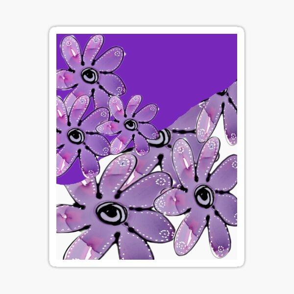 Purple Multi Floral Sticker
