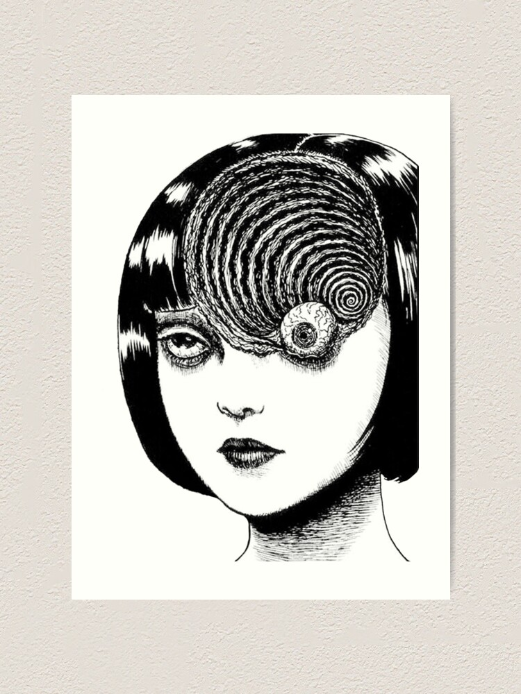 Junji Ito Uzumaki Design Art Print By Pride Designs Redbubble