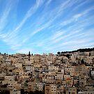 Jerusalem Blue Sky by johnnabrynn