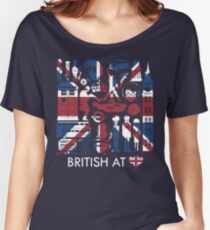 British @ Heart Women's Relaxed Fit T-Shirt