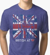British @ Heart Tri-blend T-Shirt