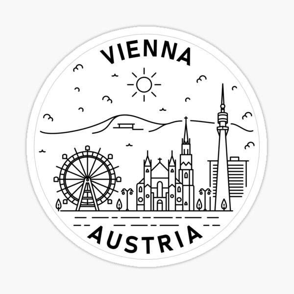 Vienna - The Capital of Austria Sticker