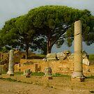 Street in Ostia Antica by Quixotegraphics