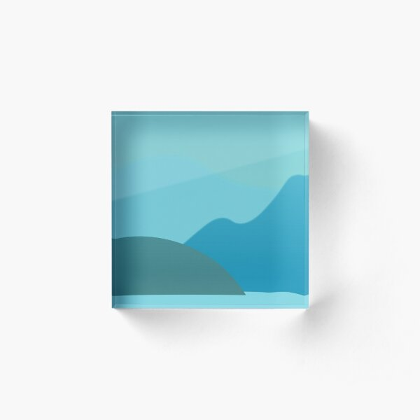 The Blue of Distance Acrylic Block