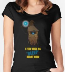 CLAPTRAP WIZARD! Women's Fitted Scoop T-Shirt