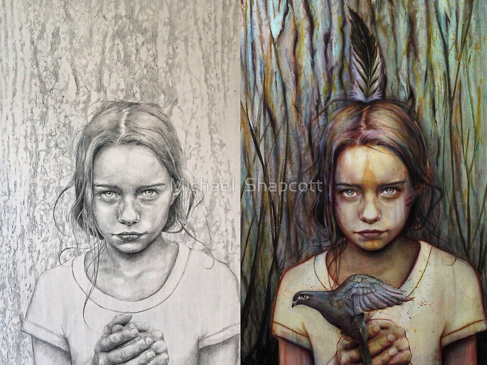 Kierra: Pencil to Paint by Michael  Shapcott