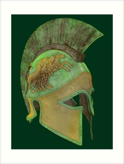 Spartan Helmet by dustygoods