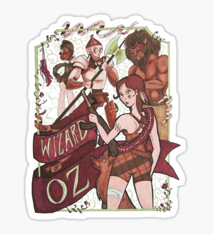 The Wizard of Oz {REMIX} Sticker