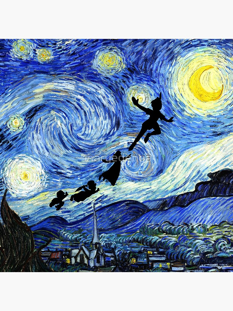 Peter Pan Starry Night by maryedenoa