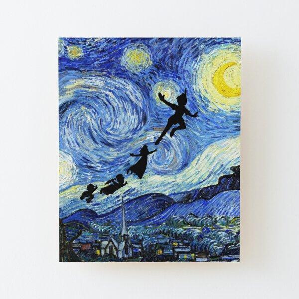 Peter Pan Starry Night Wood Mounted Print