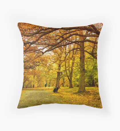 Autumn marathon Throw Pillow