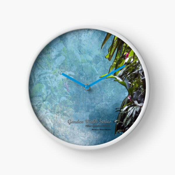 GARDEN WALK SERIES _ Blue Garden Walk - Shankaran Barron Collection Clock