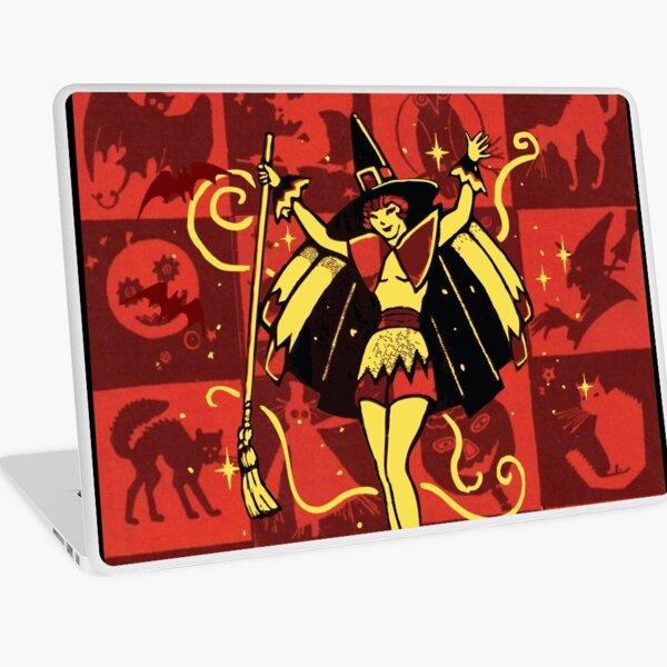 Halloween Witch Girl (vintage) Laptop Skin
