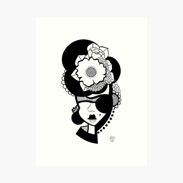 Pirate of Flowers Art Print